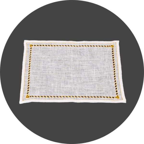 Centrino rettangolare in puro lino